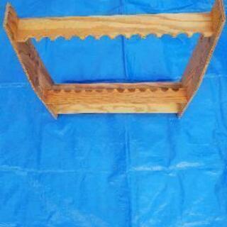木製 釣り竿スタンド ロッドホルダー