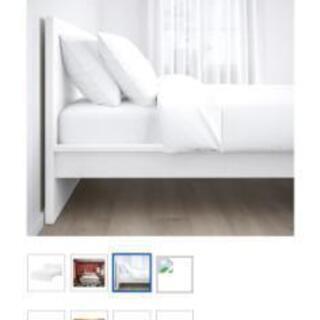 IKEA クイーンベッド マルム ホワイト
