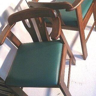 椅子 木製・2個一組美品 >>終了