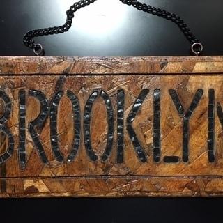 モザイクタイルで作成した看板(表札) BROOKLYN(ブルックリン)