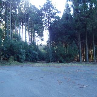 山林と雑種地 山の湧き水の水道管あり 町道沿い