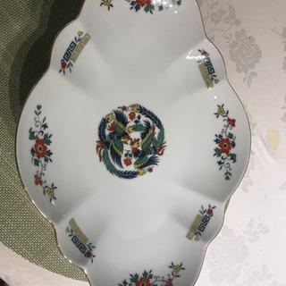 中華風陶器大皿