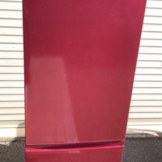 AQUA アクア ノンフロン冷凍冷蔵庫 AQR-18F レッド ...