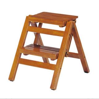 踏み台 脚立 木製 シェルフ 飾り棚