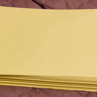 B4上質紙 イエロー黄色