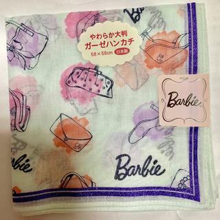 【新品・未使用】 美品!バービー Barbie ハンカチ ガーゼ