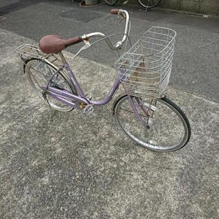 丸石自転車 マルイシ 24インチ紫 一応ジャンク