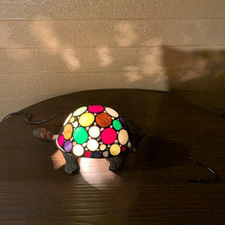 ステンドグラスライト 亀