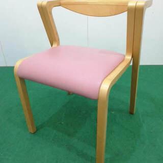 【格安販売】木製 スタッキングチェア ピンク