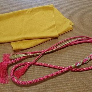 振袖などに★パールの飾り付きの帯締めと縮緬の帯揚げのセット