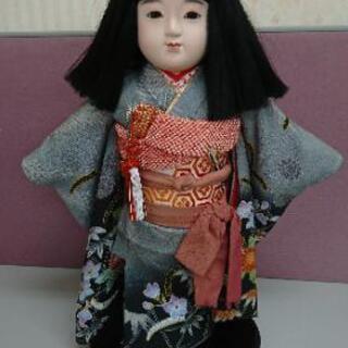 市松人形 日本人形 女の子 置物 台座