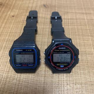カシオ 防水時計2つセット