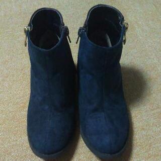 女の子用ブーツ 20cm 紺色