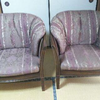 マルニ家具のロイヤルアームチェア(2脚1セット)