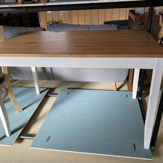ダイニングテーブル IKEA テーブル 白×ナチュラル 中古品
