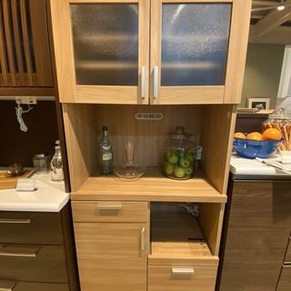 レンジボード 共和産業 食器棚 収納棚 ナチュラル 中古品