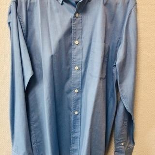 無料 新品 ブルーのカジュアルシャツ 手渡しのみ