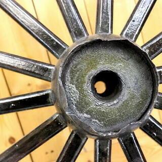 アンティーク 大八車 車輪 木製 鉄枠 直径約91cm 荷車 インテリア ガーデニング - 岐阜市