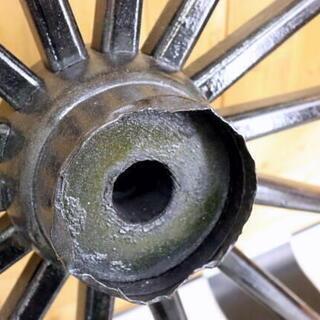 アンティーク 大八車 車輪 木製 鉄枠 直径約91cm 荷車 インテリア ガーデニング − 岐阜県