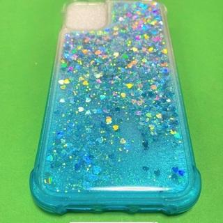 キラキラジェルカバーiPhone11用BLUE