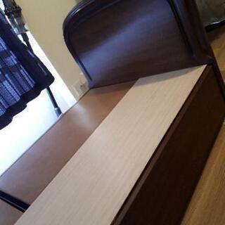 【日本製】ベッド下収納付シングルベッド