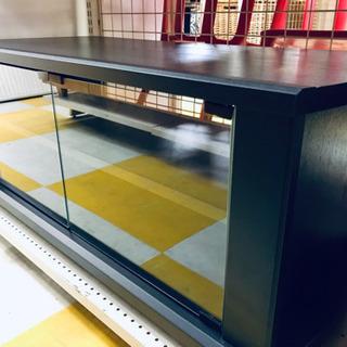 【リサイクルスターズ】シンプルなデザイン ブラウン テレビボード