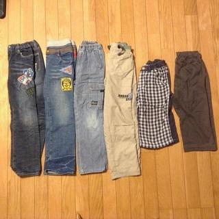 古着子供服 男の子 130サイズ ズボン パンツ 6点セット ①