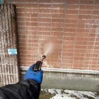 都内マンション改修工事の外壁洗浄