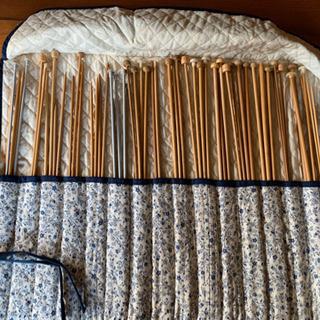 竹の編み棒セット