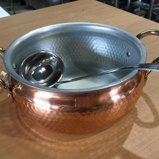 純銅製  カレーとシチューポット(新品)おたま付き