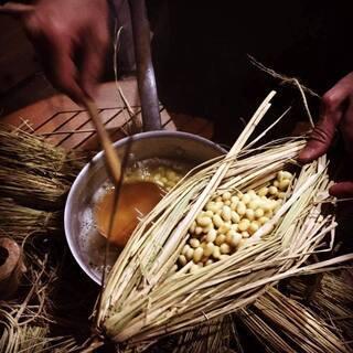 古式ゆかしい自然栽培の熟成藁苞納豆造り 2月9日