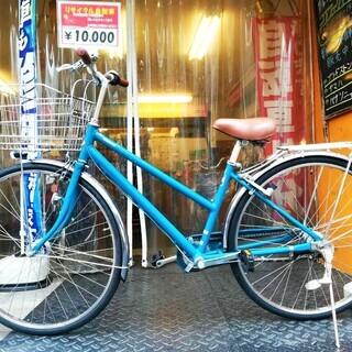 ☆整備済リサイクル自転車 27インチ ブリヂストン LEDオート...
