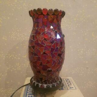 ステンドグラス風ランプ