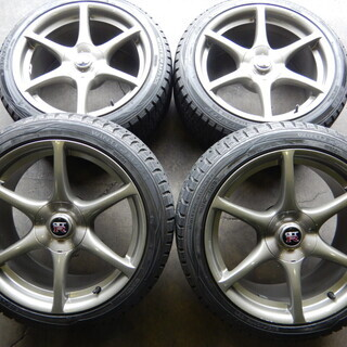 R34スカイラインGTR純正 18インチ スタッドレス付き GTR