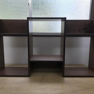 【リサイクルサービス八光 田上店】ブラウン木目調 飾り棚 シェル...