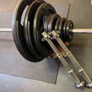 バーベル140kgセット、プレートラック