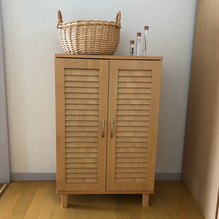 【最終処分 3/15迄】木製 下駄箱 シューズクローゼット シン...