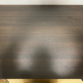 ミニーテーブル 長方形 こげ茶色