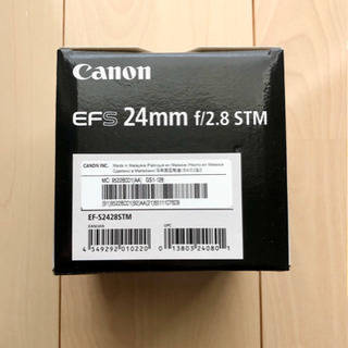 Cannon EFS 24mm f/2.8 STM