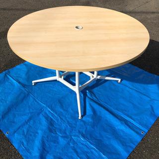 丸いテーブル 120センチ 超美品