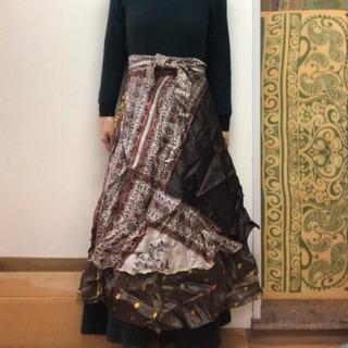 【無料】インド巻きスカート