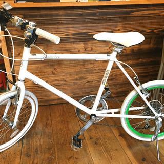 自転車【20インチ】ホワイトカラー SHIMANO[6段]