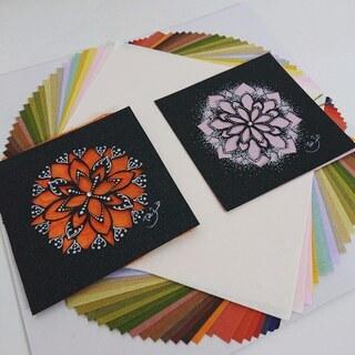 和を奏でる曼荼羅アート♪切り絵+和紙を使って上品に♪