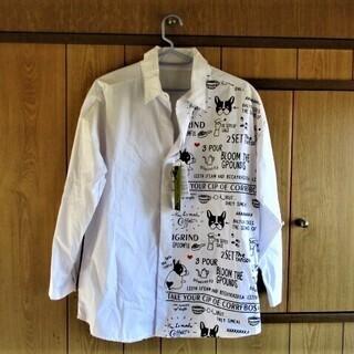 PARK GIRL プリントシャツ M‐L 白  犬 新品未使用...