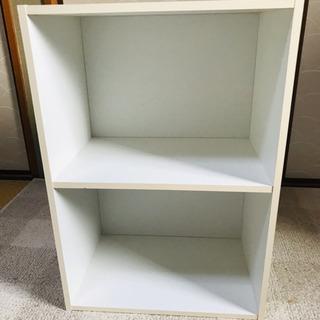 カラーボックス 白 2段