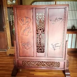 衝立 ついたて 置物 古物 骨董品 間仕切り 玄関 木製