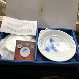 深川製磁 Blue Wineryブルーワイナリー皿 2枚 未使用品