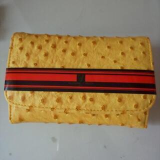 未使用 2つ折り財布 黄色