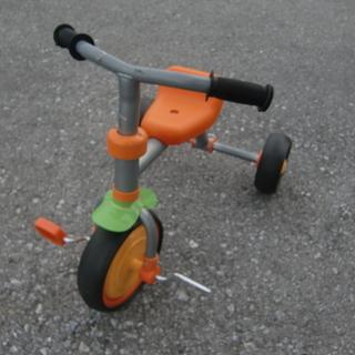 三輪車オレンジ