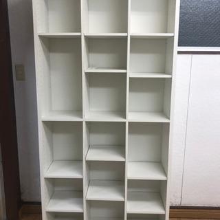 【リサイクルサービス八光 田上店 配達・設置OK】ホワイト 大型本棚